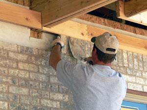 Maçonnerie : construction de murs, cloisons, murage de portes